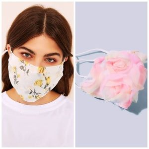 Floral print FACE MASK FOR WOMEN